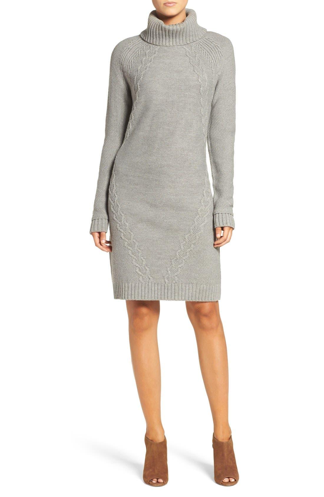 Alternate Image 4  - Eliza J Cable Knit Sweater Dress (Regular & Petite)