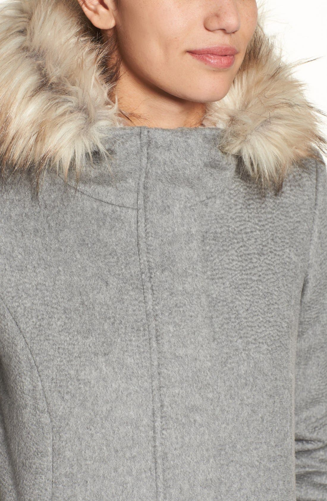 Alternate Image 4  - Cole Haan Wool Parka With Faux Fur Trim