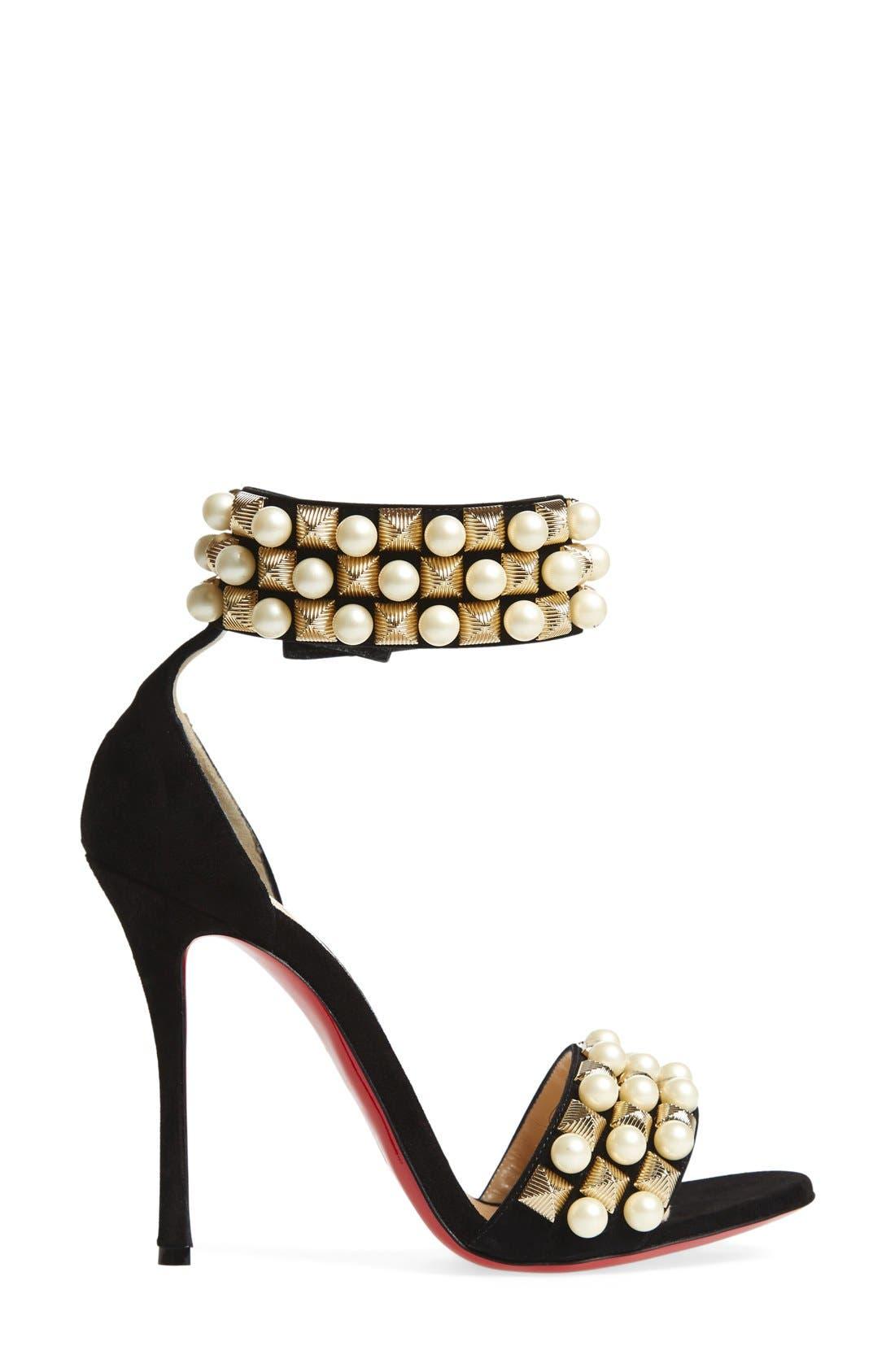 Alternate Image 4  - Christian Louboutin 'Tudor Bal' Embellished Cuff Sandal