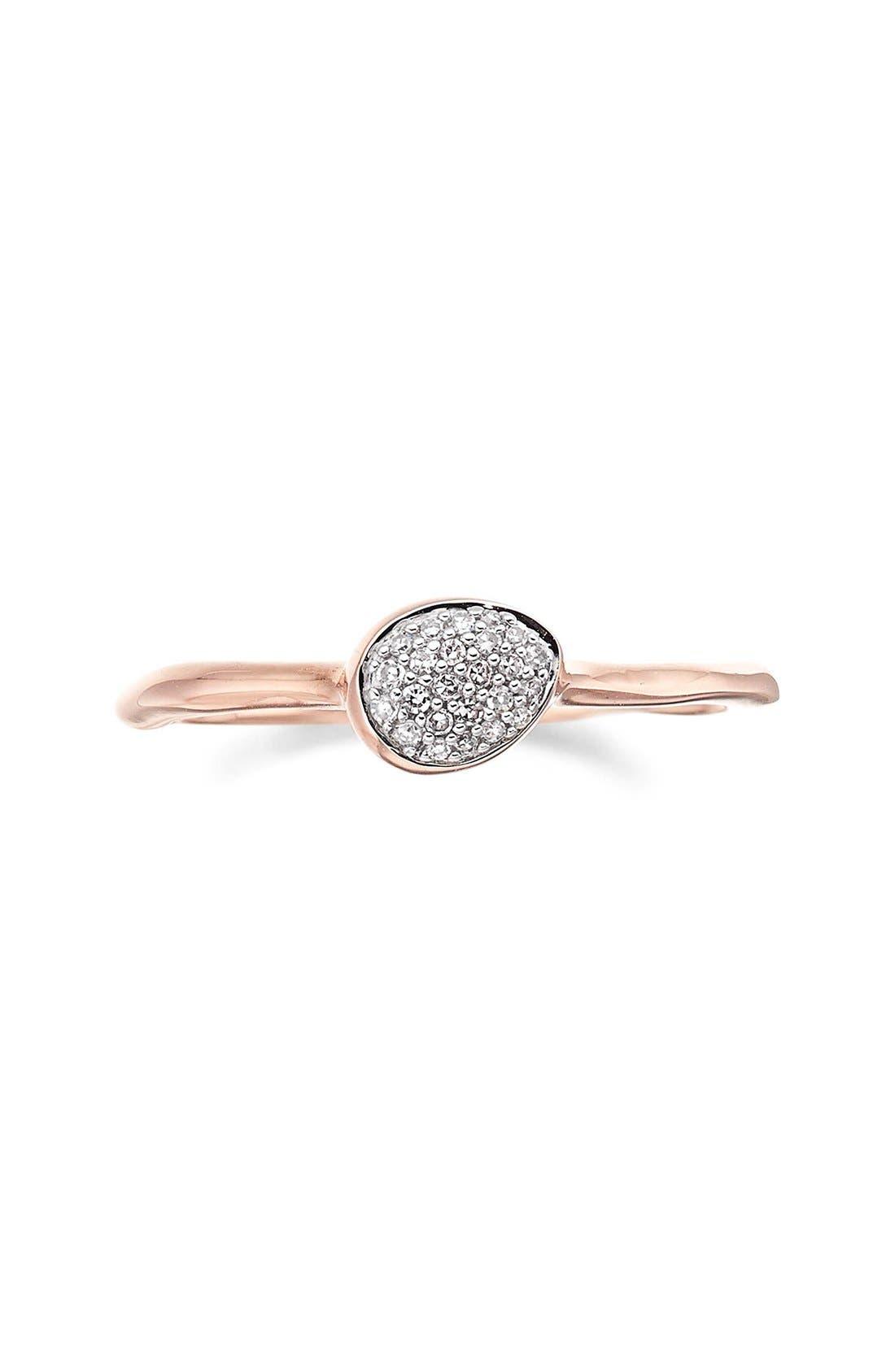 Alternate Image 3  - Monica Vinader 'Siren' Small Pavé Diamond Stacking Ring