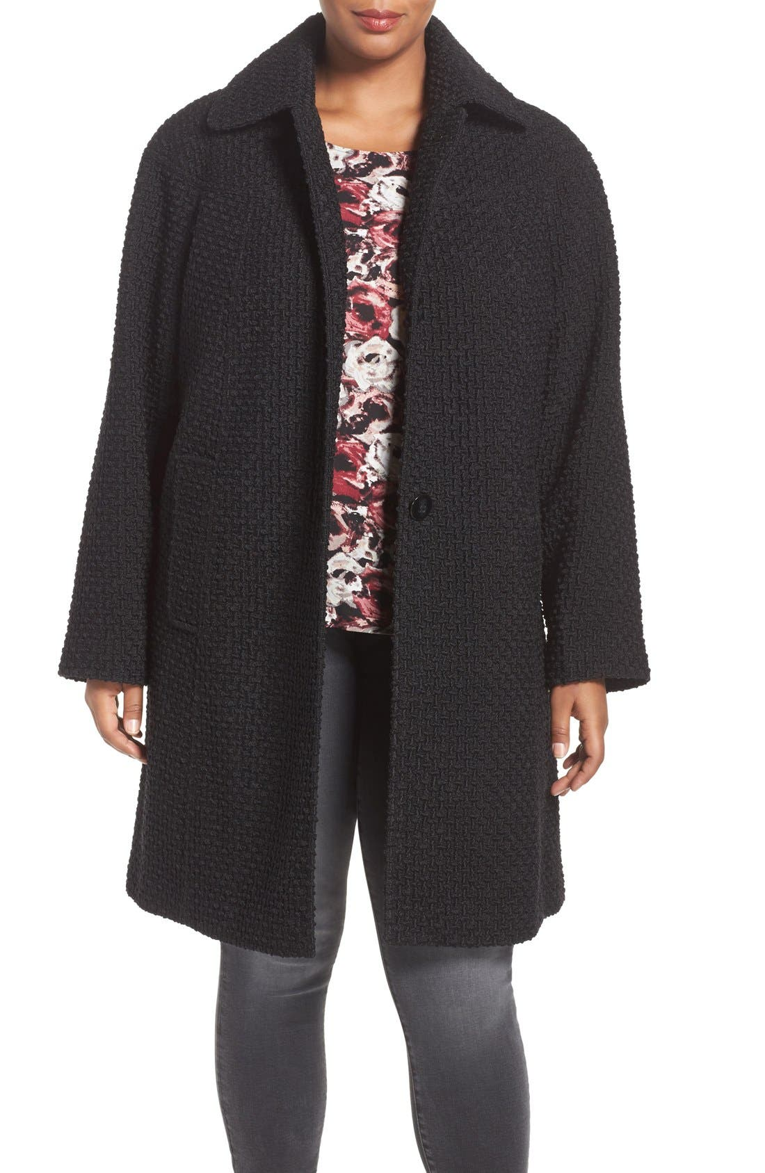 Gallery Basket Weave Jacket (Plus Size)