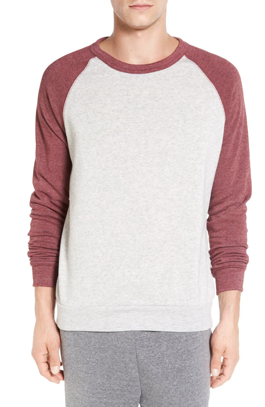 Main Image - Alternative 'The Champ' Trim Fit Colorblock Sweatshirt