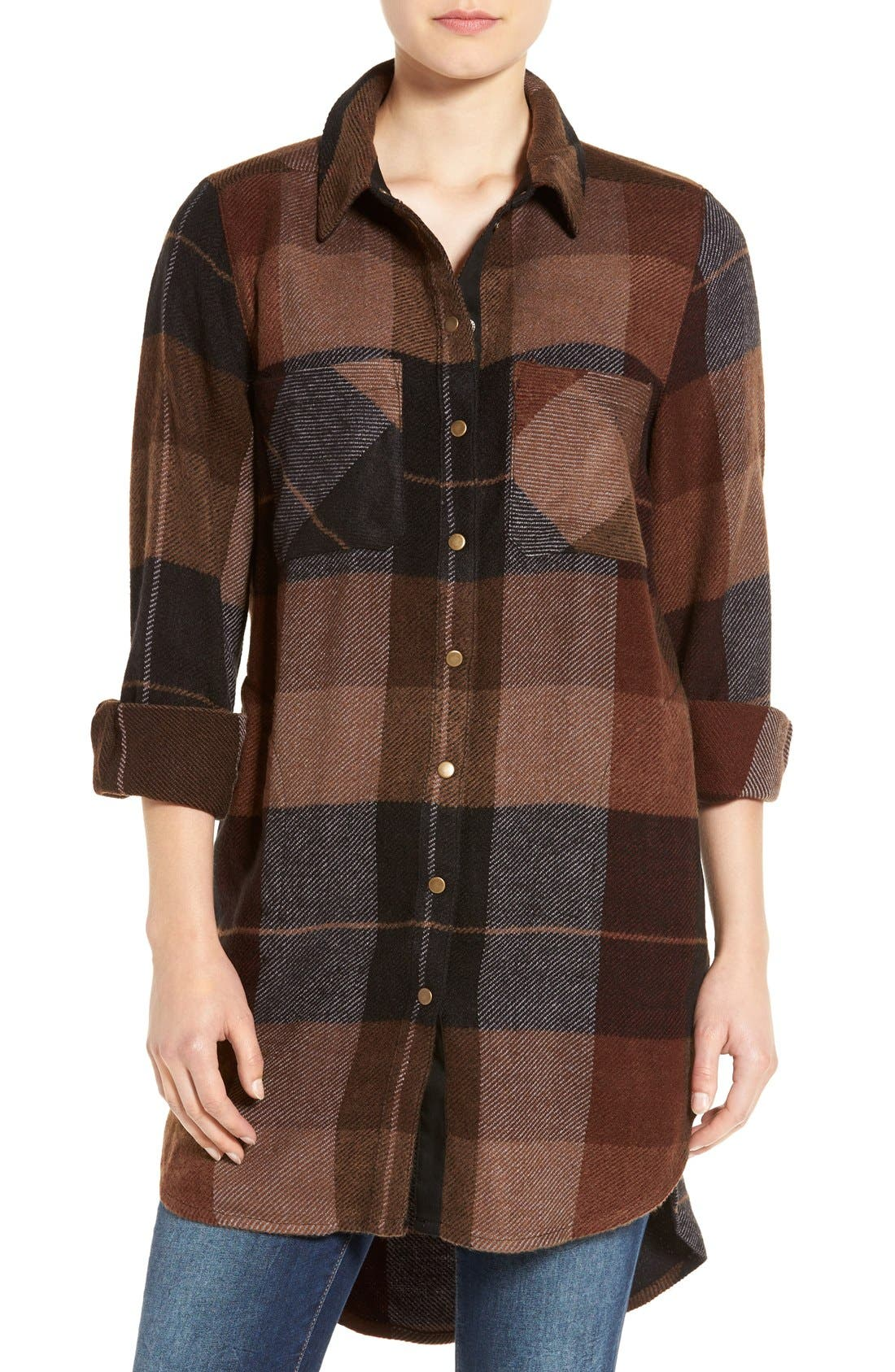 Alternate Image 1 Selected - Dex Plaid Flannel Tunic