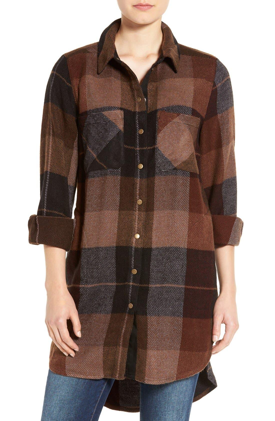 Main Image - Dex Plaid Flannel Tunic