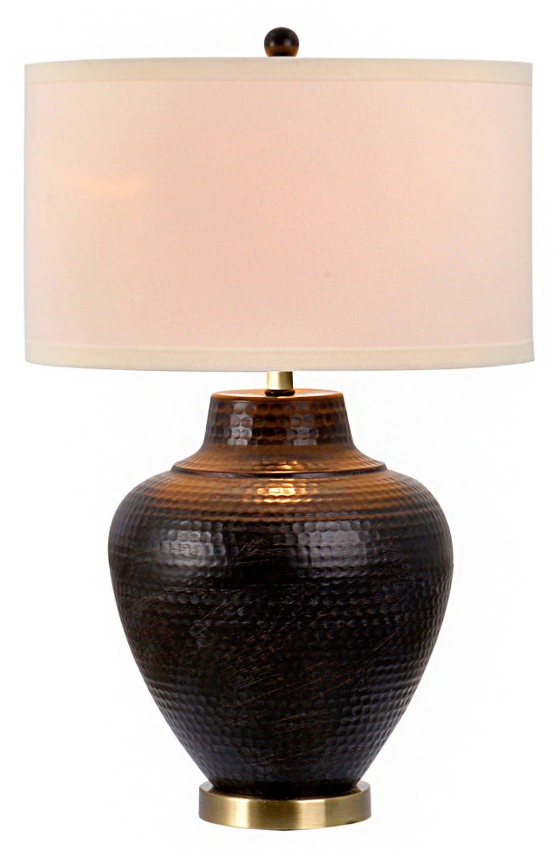 JALEXANDER LIGHTING JAlexander Hammered Metal Table Lamp