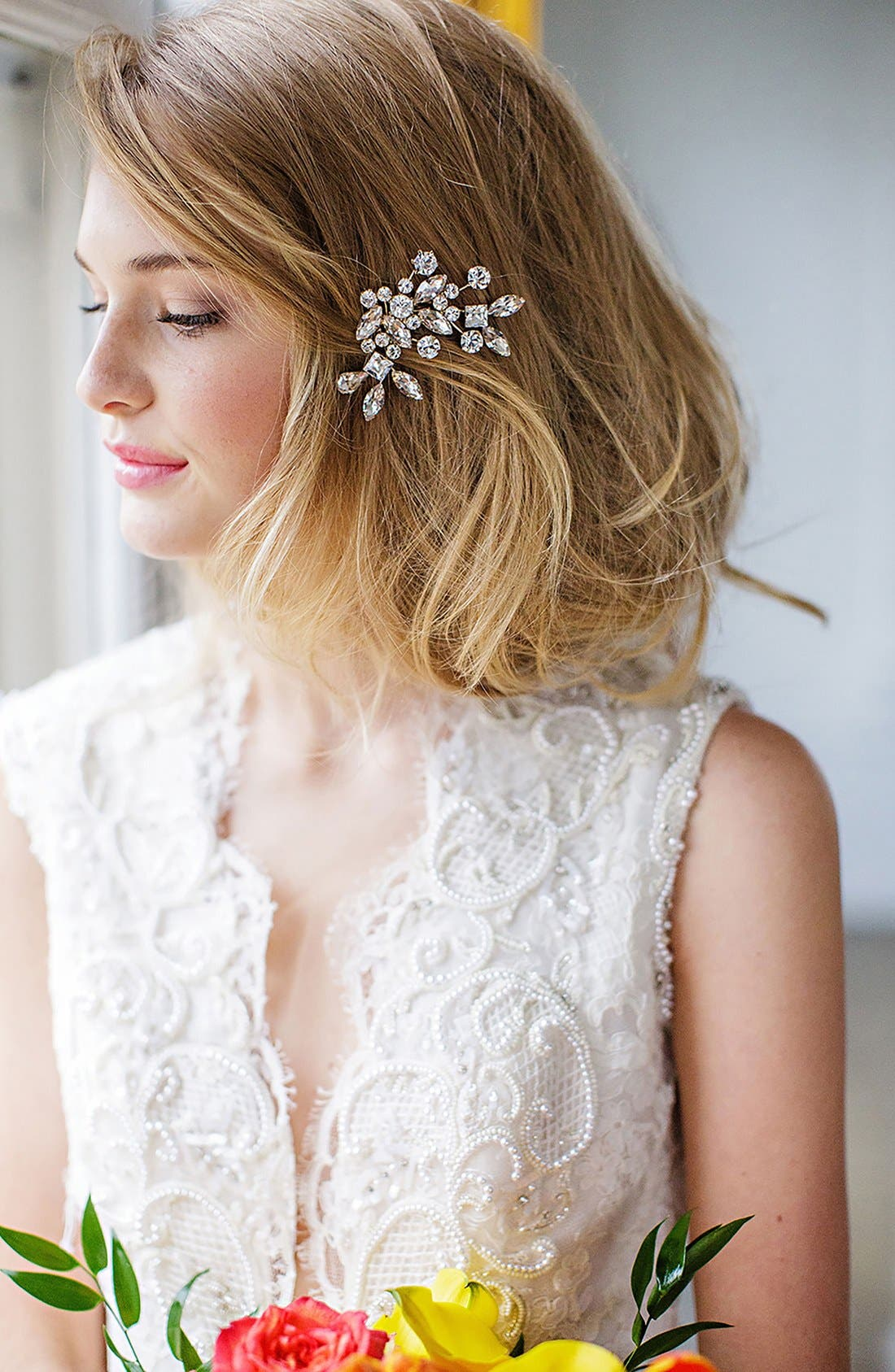 Main Image - Brides & Hairpins 'Caprice' Jeweled Hair Comb