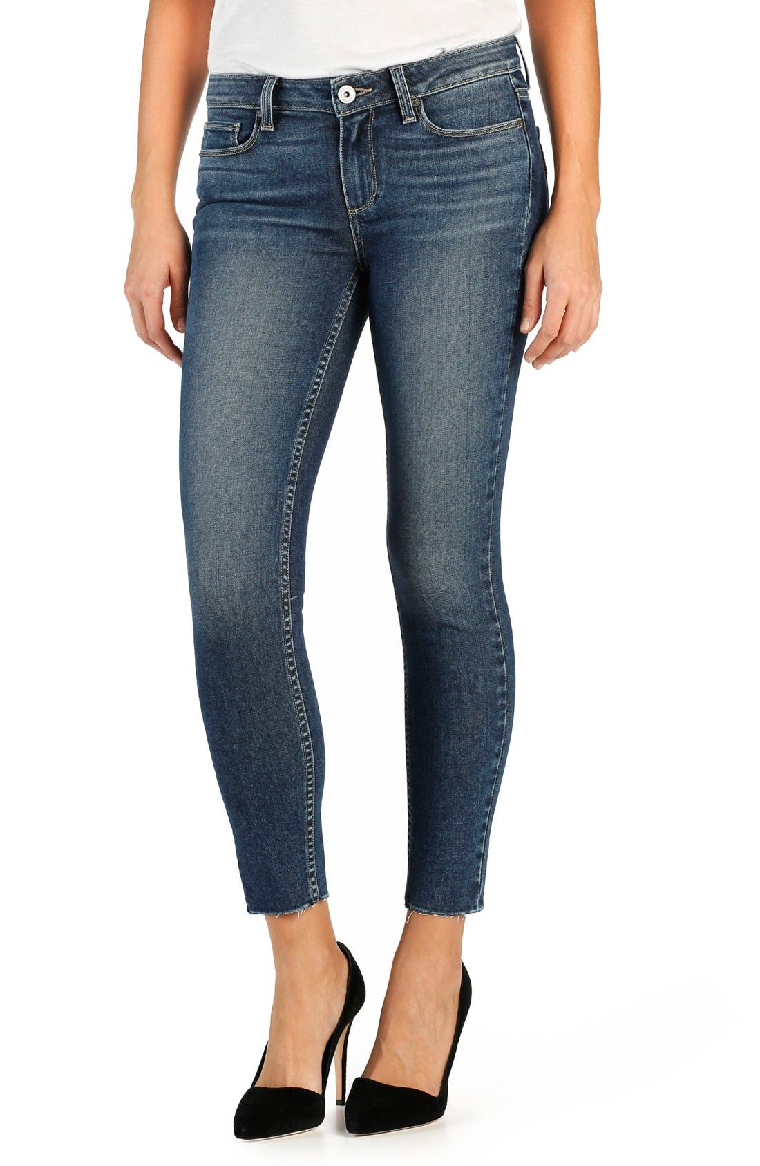 Alternate Image 1 Selected - PAIGE 'Legacy - Verdugo' Ankle Ultra Skinny Jeans (Axel)
