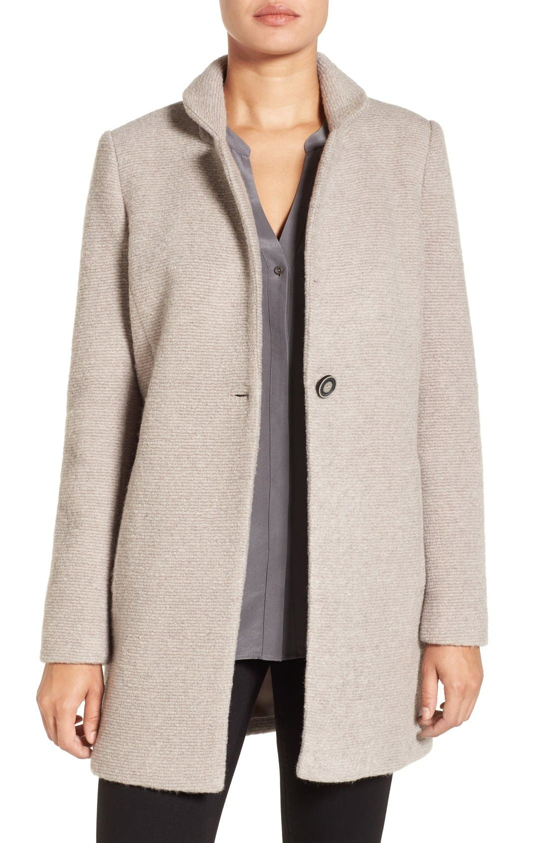 Alternate Image 1 Selected - Kenneth Cole New York Bouclé Coat