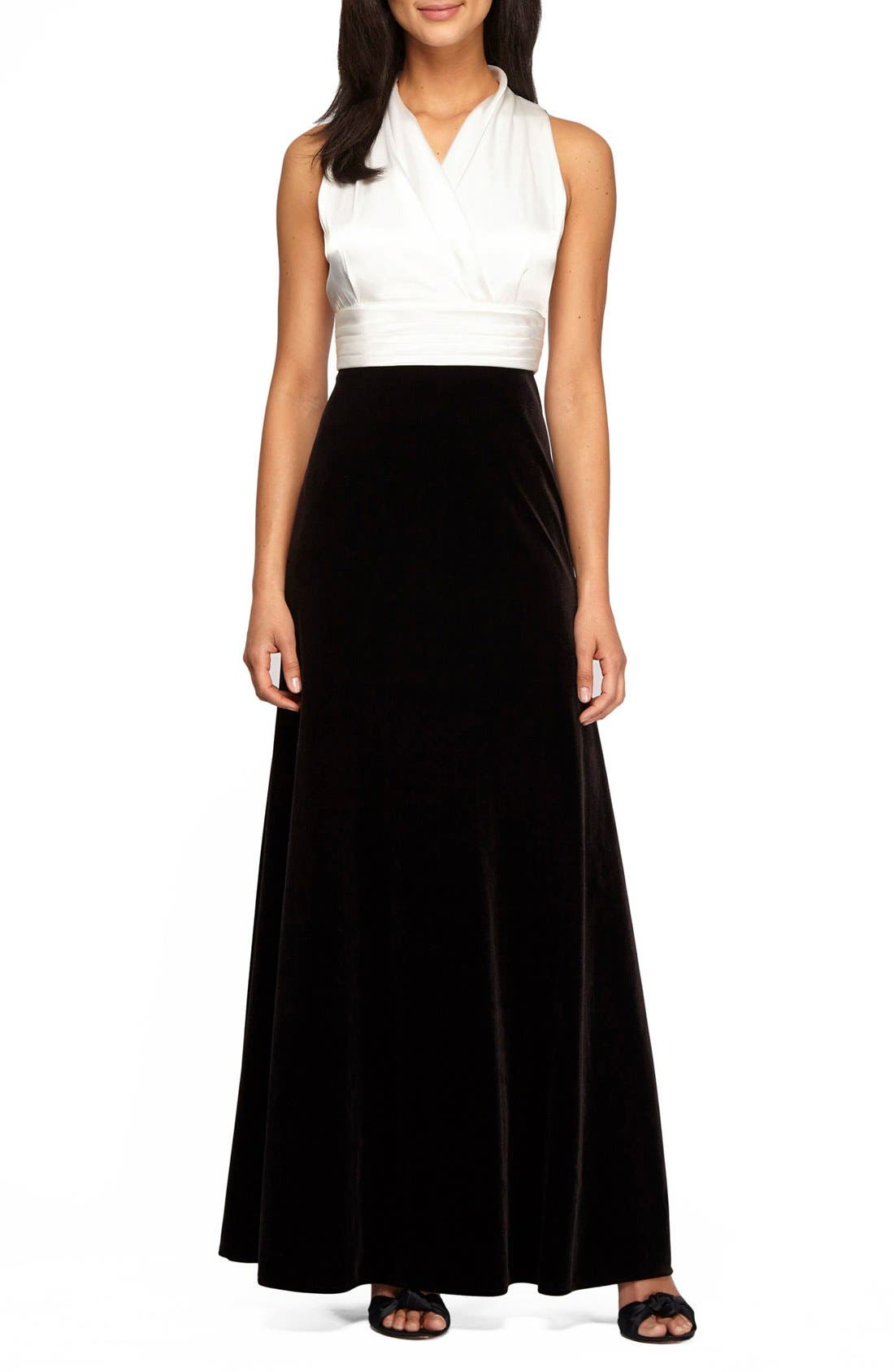 Main Image - Alex Evenings Stretch Fit & Flare Gown