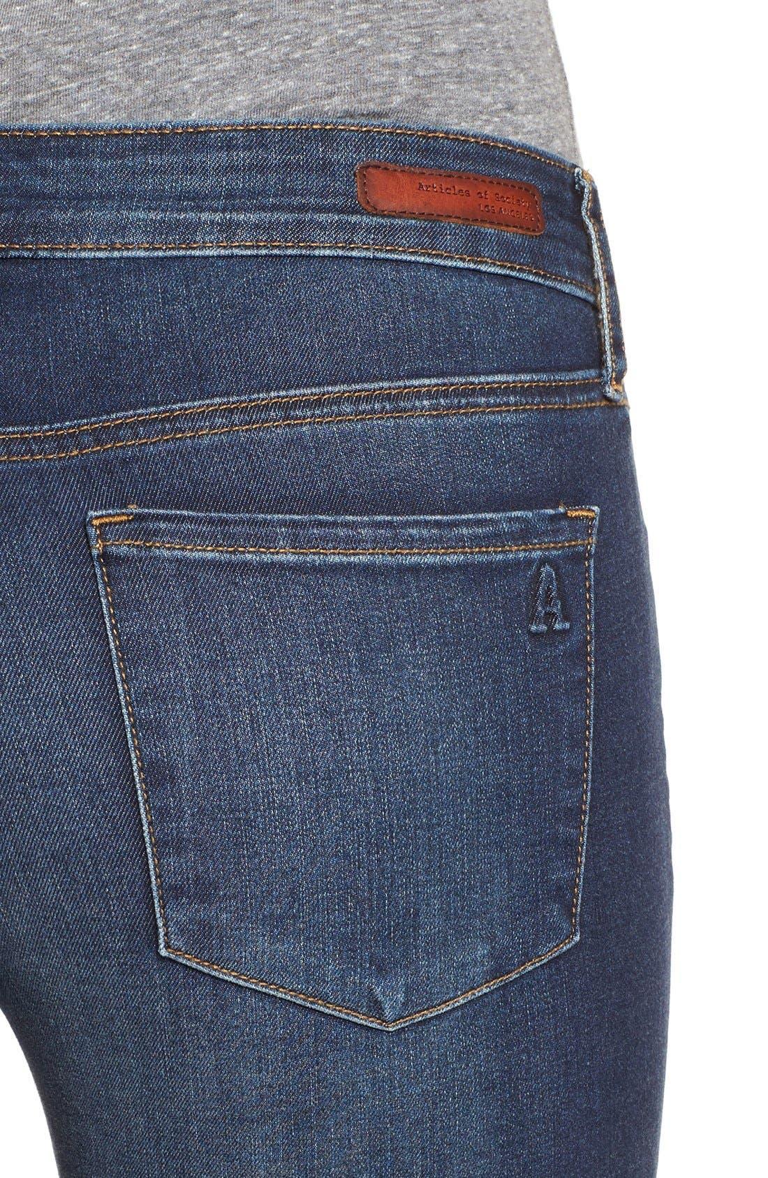 Alternate Image 4  - Articles of Society 'Mya' Skinny Jeans (Glendale)