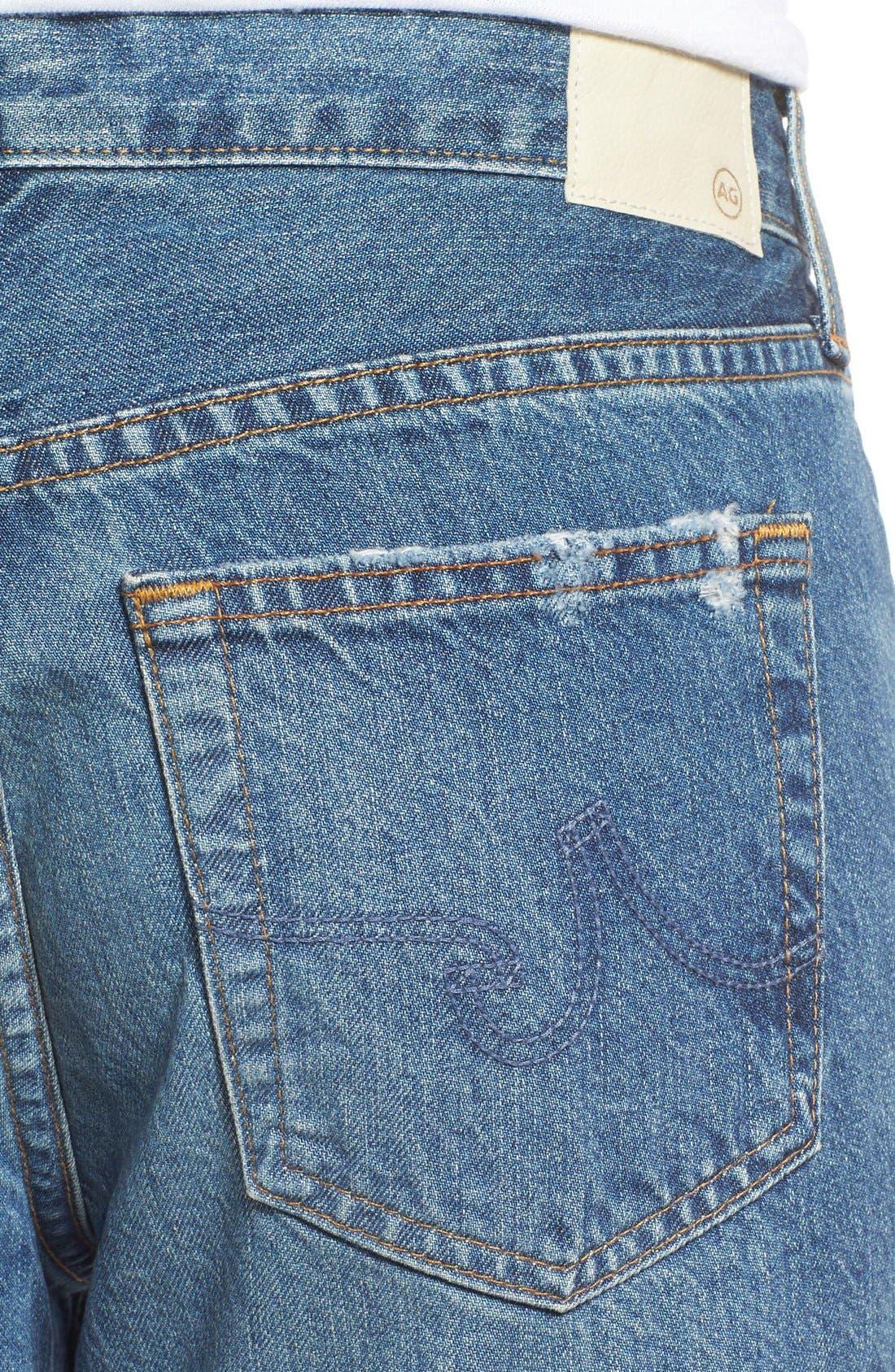 Alternate Image 4  - AG 'The Beau' Skinny Boyfriend Jeans (16 Years Hourglass Sand)