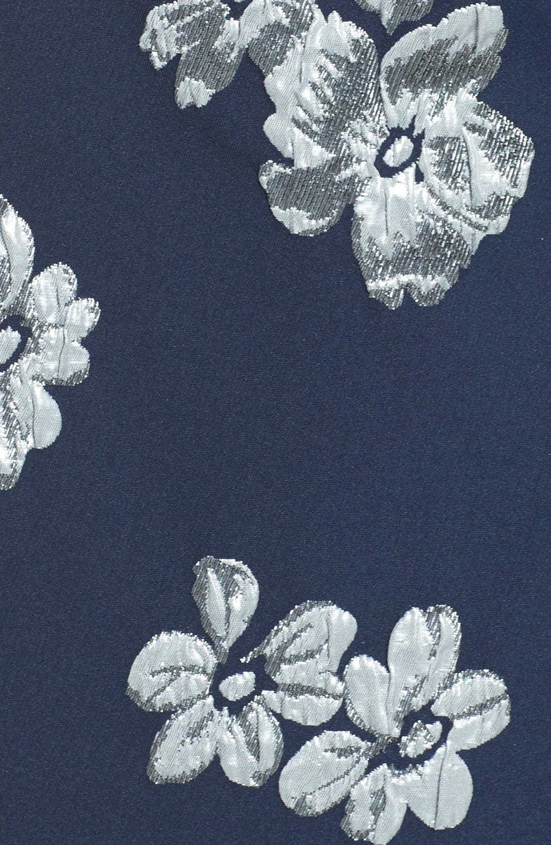 Alternate Image 6  - Badgley Mischka Off the Shoulder Floral Mermaid Gown