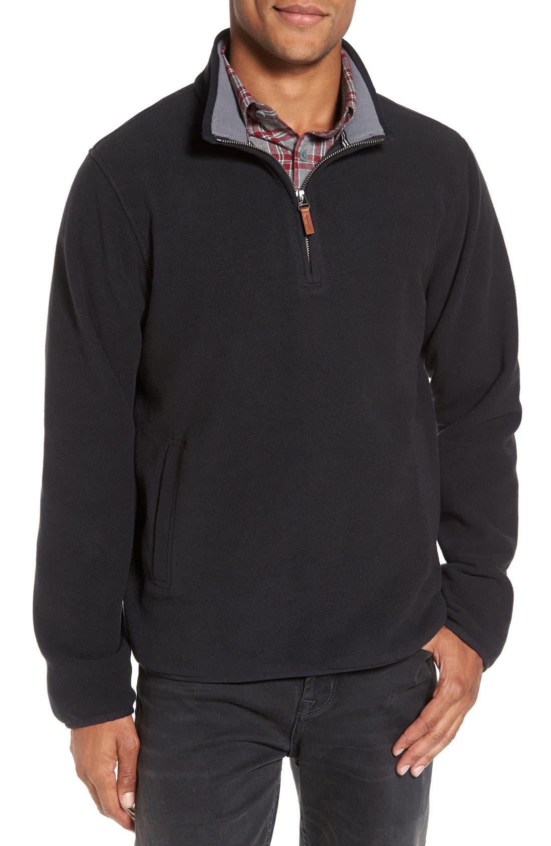 Alternate Image 1 Selected - Nordstrom Men's Shop Polar Fleece Quarter Zip Pullover (Regular & Tall)