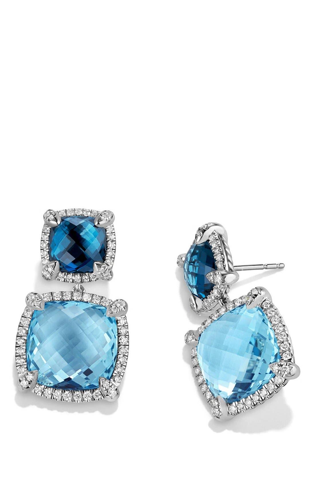 Alternate Image 2  - David Yurman 'Châtelaine' Pavé Bezel Double Drop Earrings with Diamonds