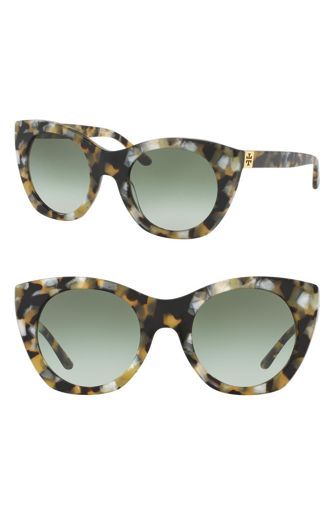 Alternate Image 1 Selected - Tory Burch 52mm Cat Eye Sunglasses