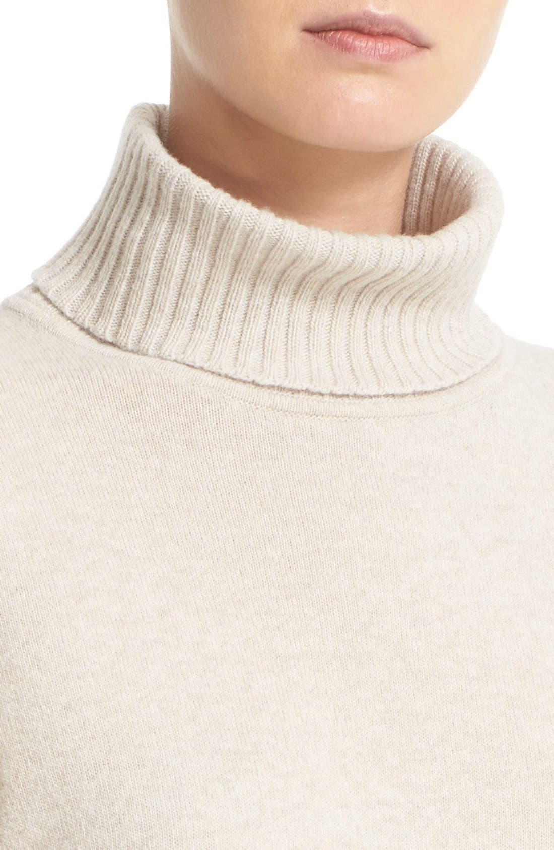 Alternate Image 6  - Lafayette 148 New York Wool & Cashmere Turtleneck Sweater