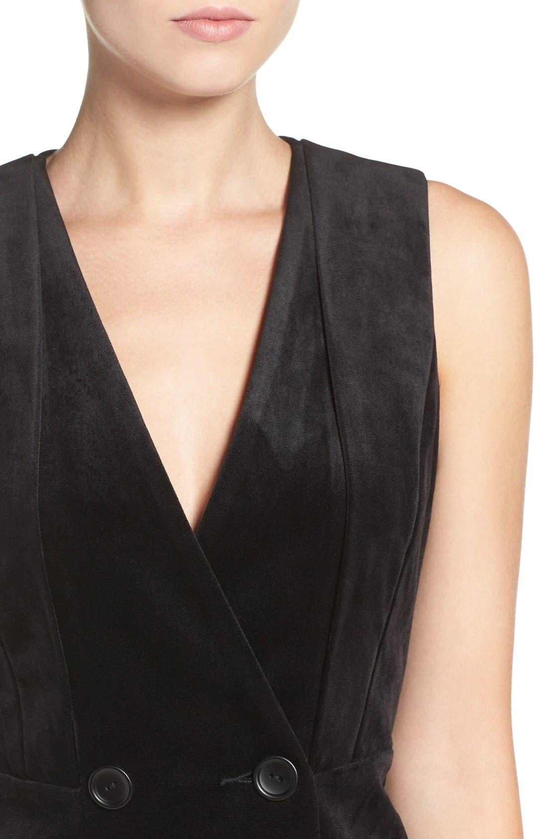 Alternate Image 5  - Greylin Velvet Tuxedo Dress