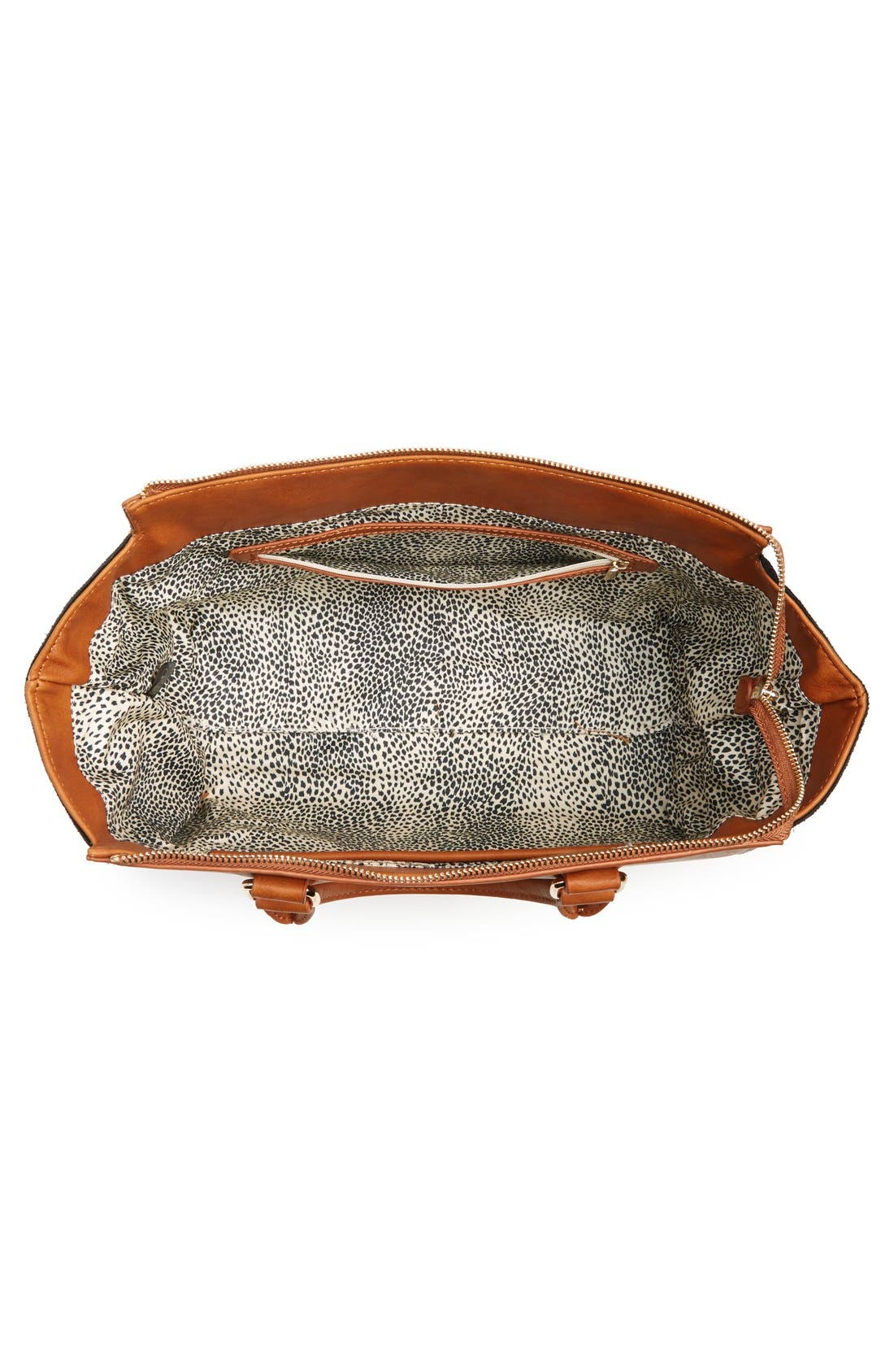 Alternate Image 4  - Sole Society 'Bridgette' Winged Faux Leather & Faux Suede Satchel