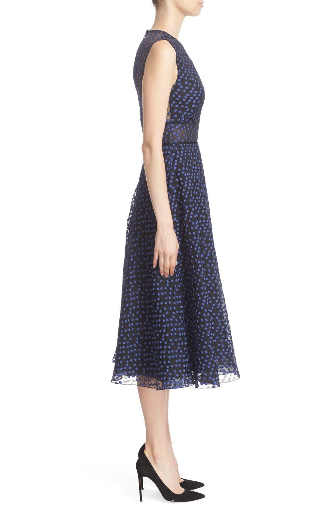Alternate Image 5  - Lela Rose Dotted Organza Fit & Flare Midi Dress