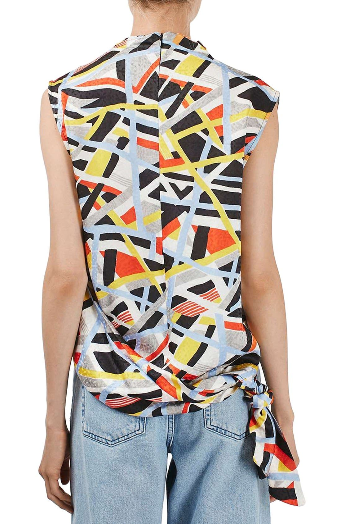 Alternate Image 3  - Topshop Boutique 'Metro' Funnel Neck Sleeveless Top