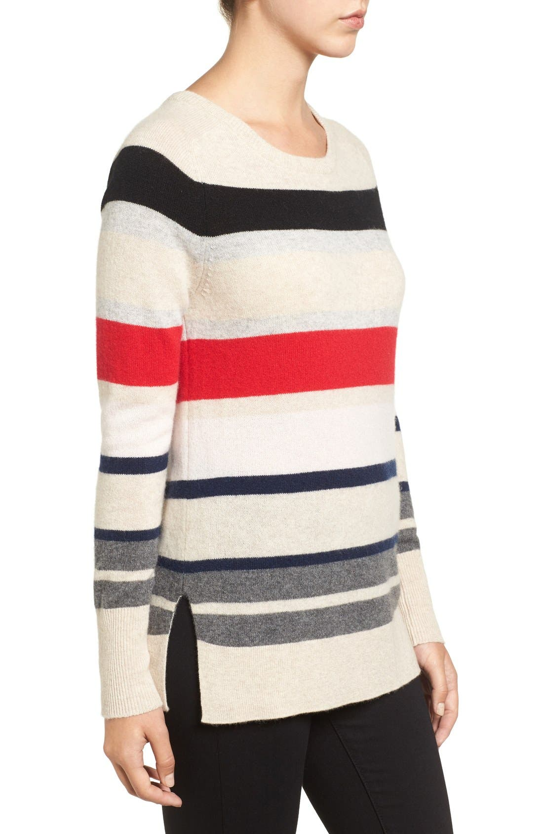 Alternate Image 4  - Halogen® Patterned Cashmere Sweater (Regular & Petite)