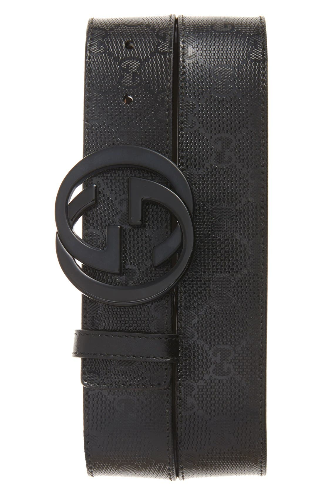 Main Image - Gucci Logo Embossed Leather Belt