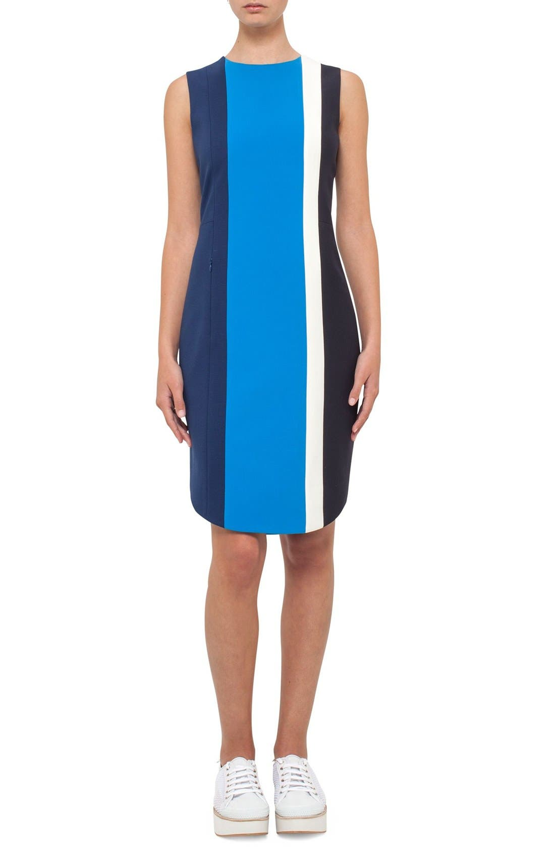 AKRIS PUNTO Colorblock Stripe Jersey Dress