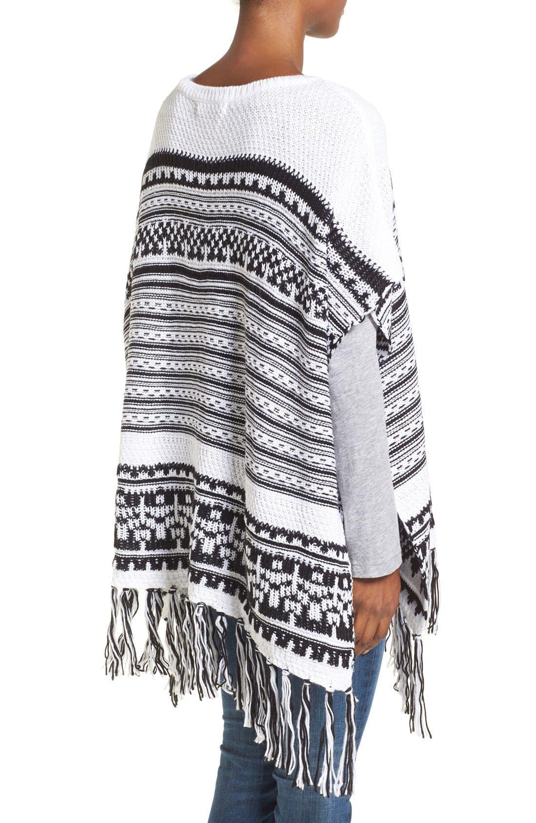 Alternate Image 2  - BCBGeneration Stripe Knit Poncho