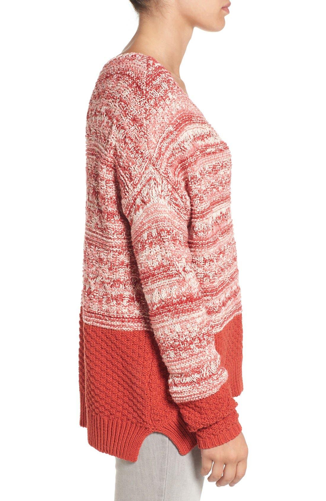 Alternate Image 4  - Caslon® Colorblock Marl Knit Sweater