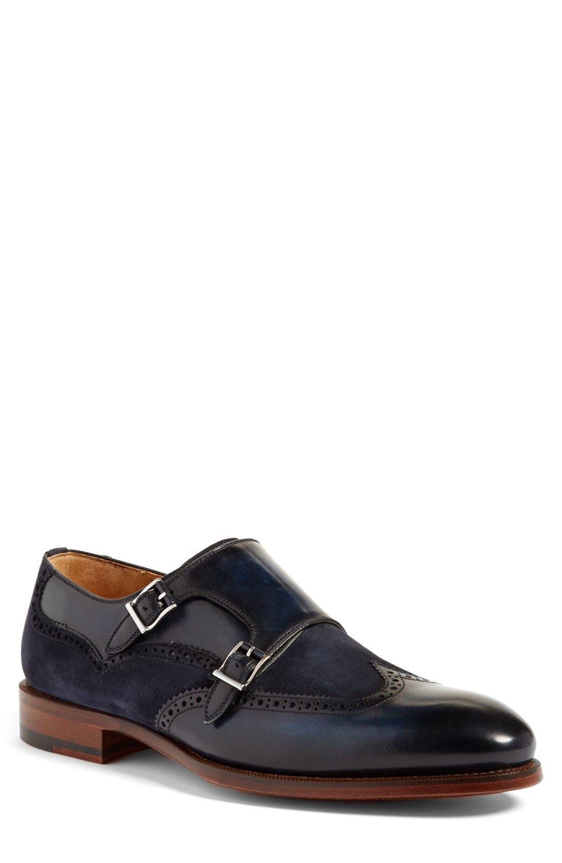 MAGNANNI 'Leve' Double Monk Strap Shoe