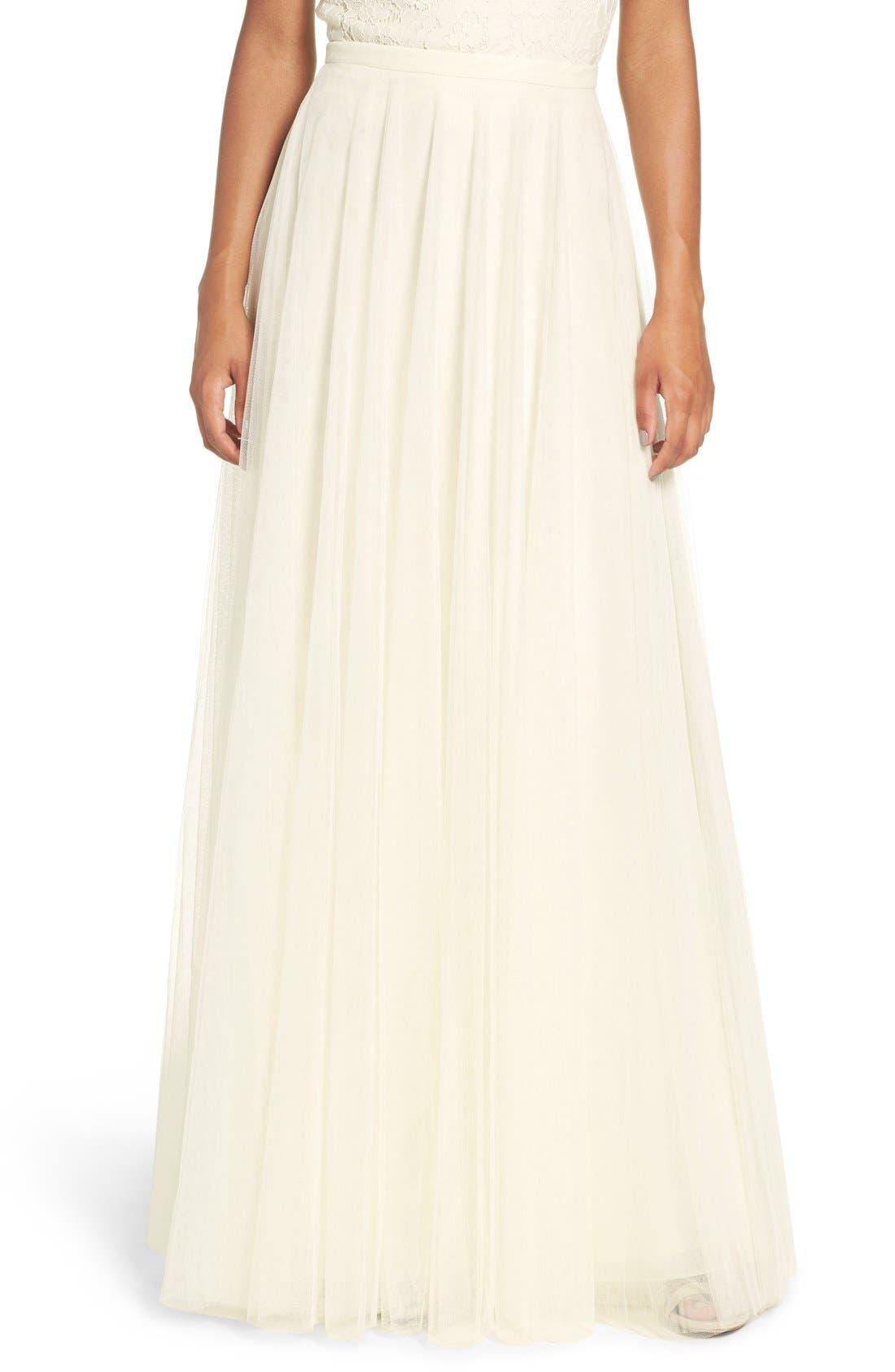 Main Image - Jenny Yoo 'Winslow' Long Tulle A-Line Skirt