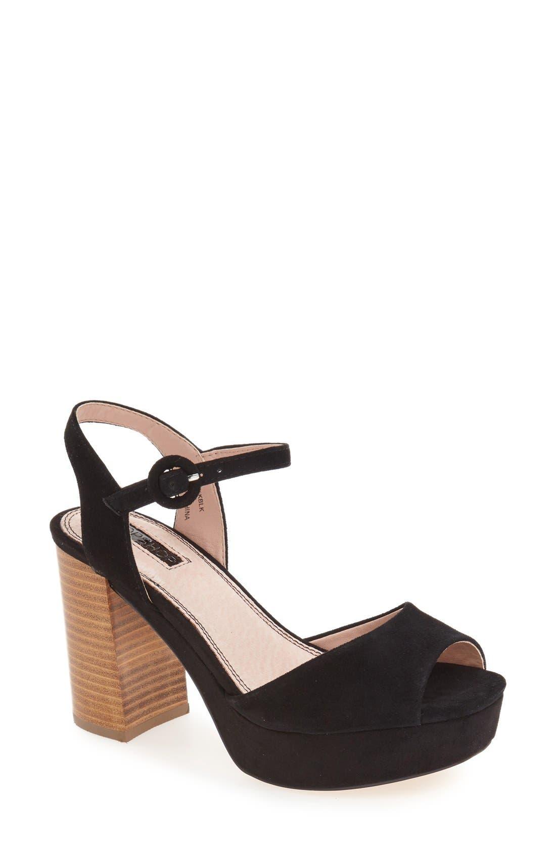Alternate Image 1 Selected - Topshop 'Lana' Chunky Platform Sandal (Women)
