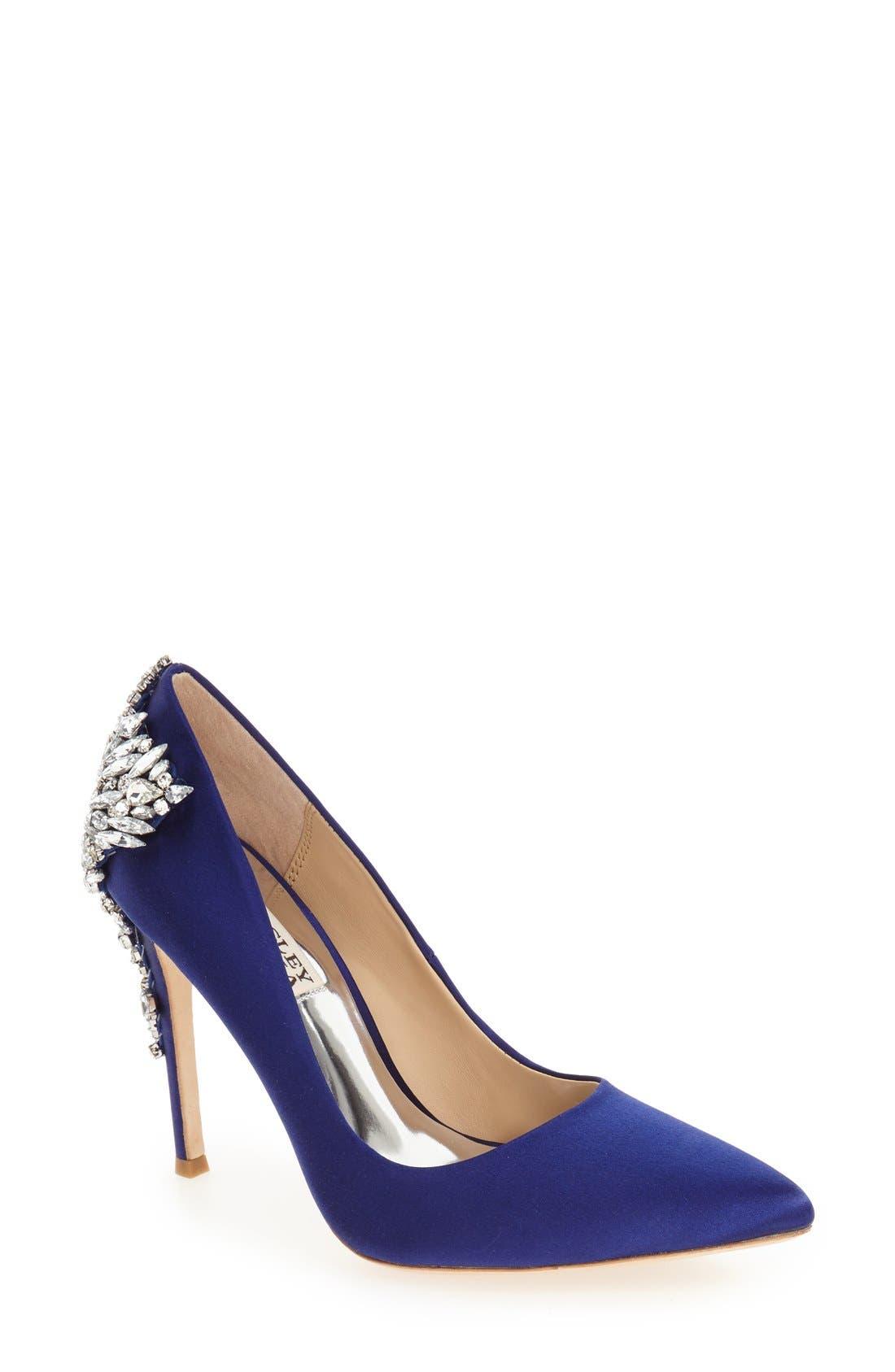 Alternate Image 1 Selected - Badgley Mischka 'Gorgeous' Crystal Embellished Pointy Toe Pump (Women)