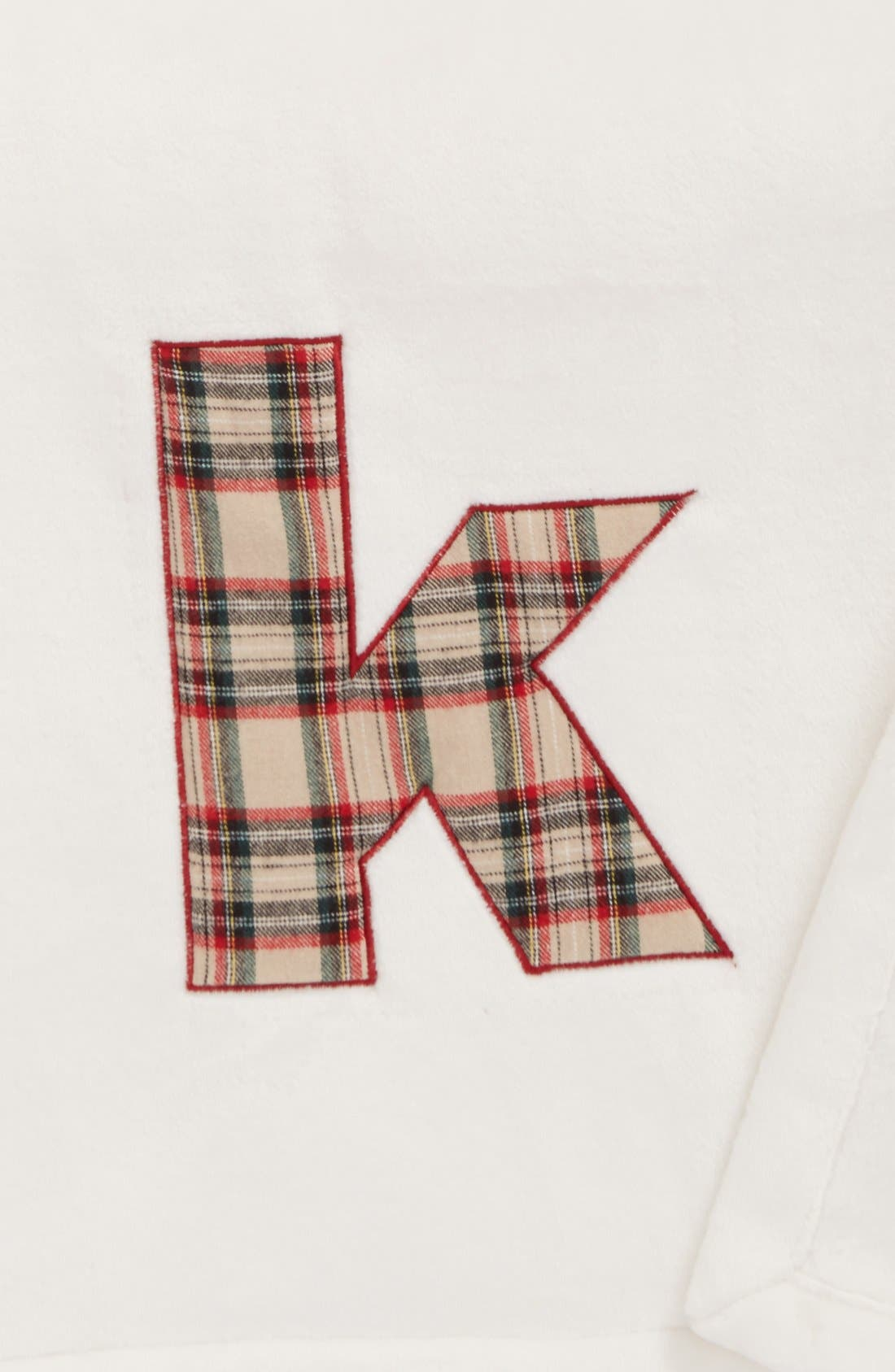 Alternate Image 2  - Levtex Plaid Initial Plush Throw Blanket