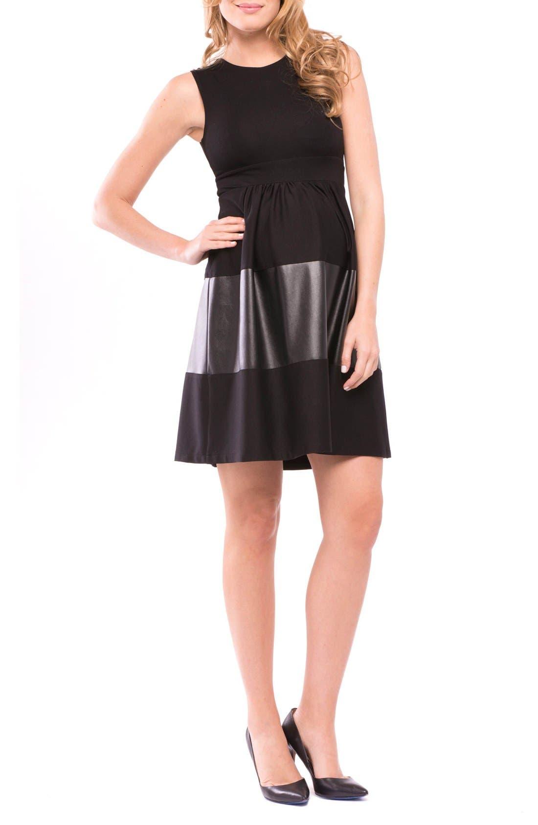 OLIAN Melissa Sleeveless Fit & Flare Maternity Dress