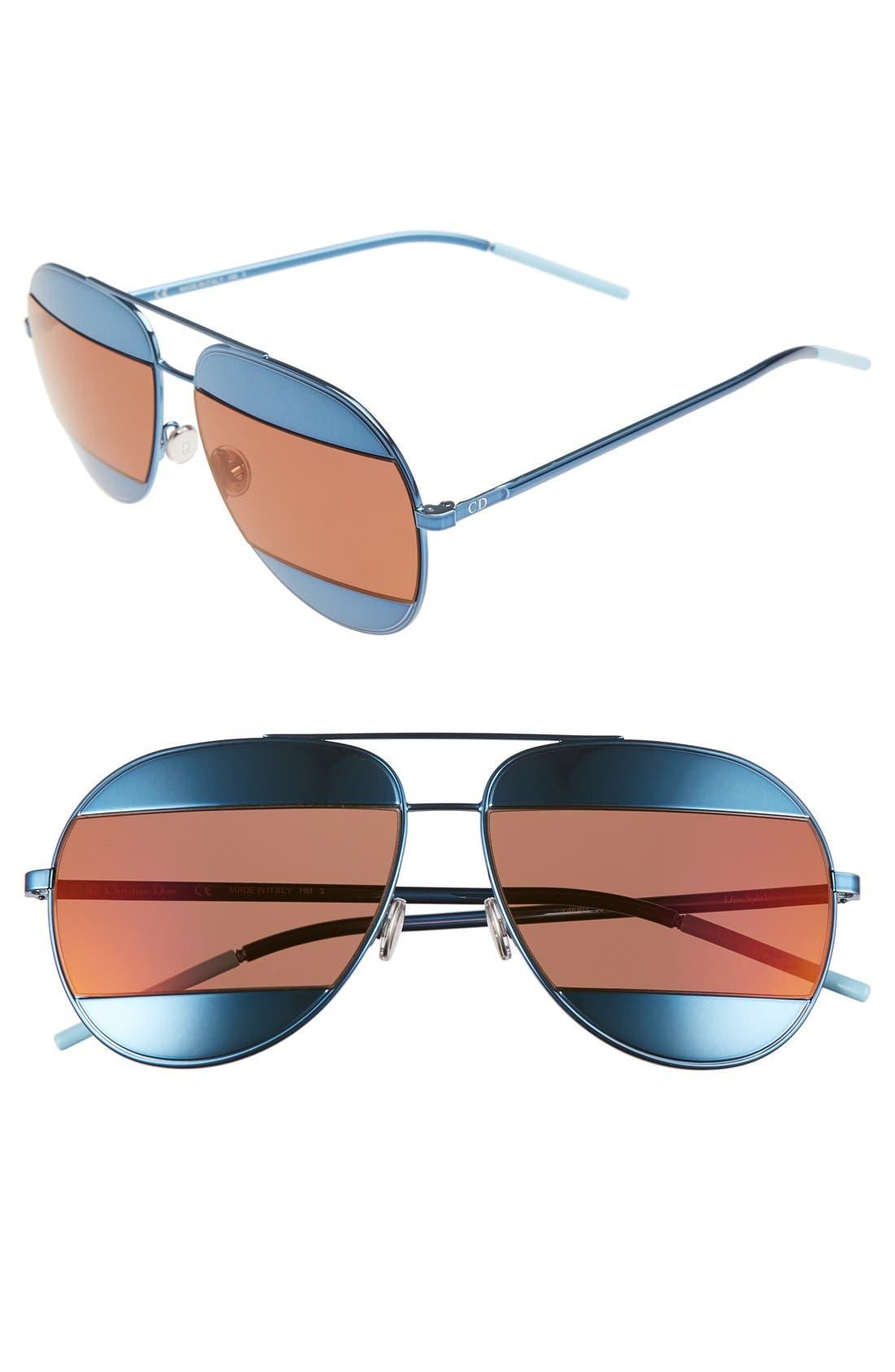Main Image - Dior Split 59mm Aviator Sunglasses