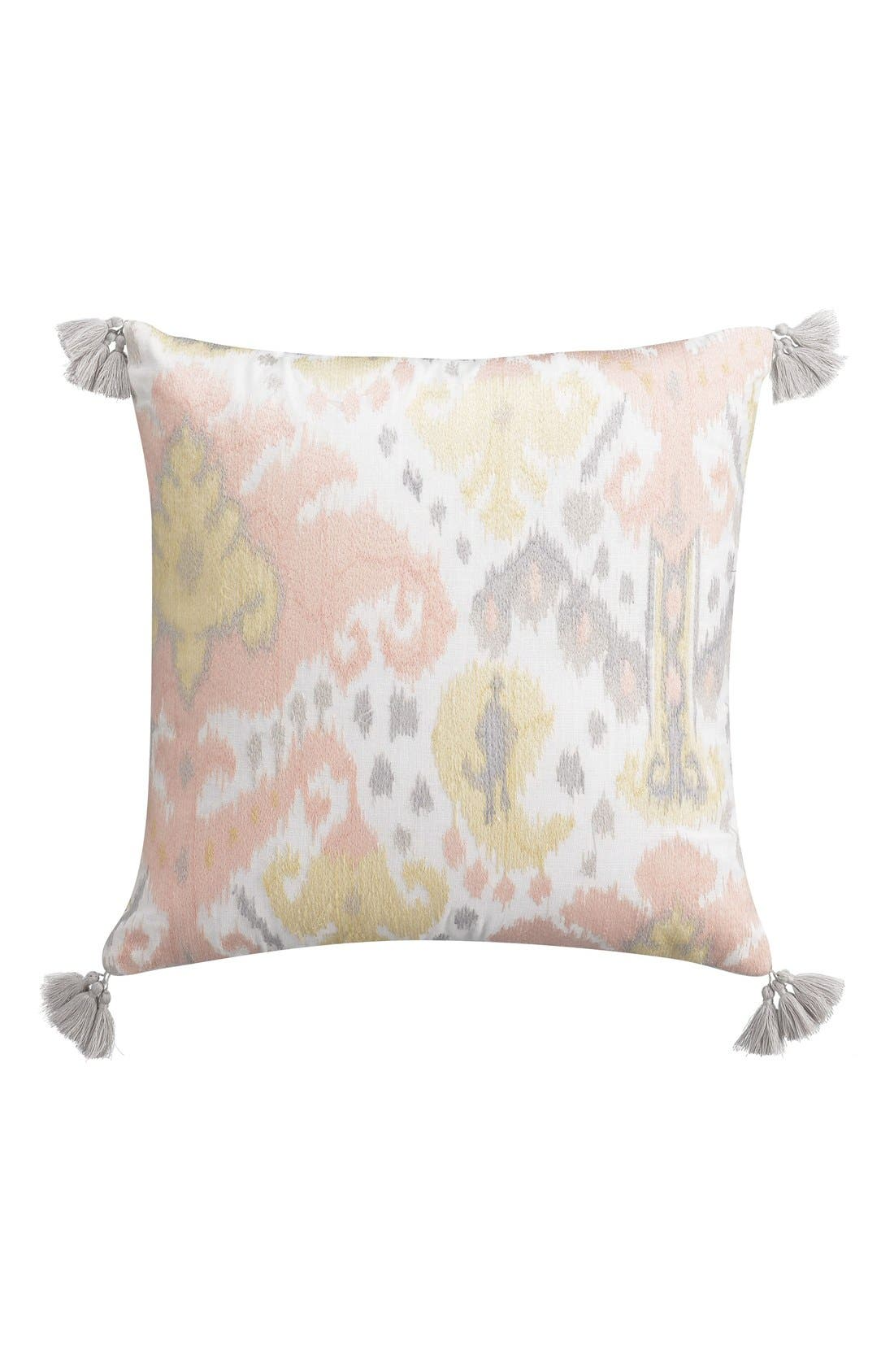 CUPCAKES AND CASHMERE Kilim Embroidered Accent Pillow