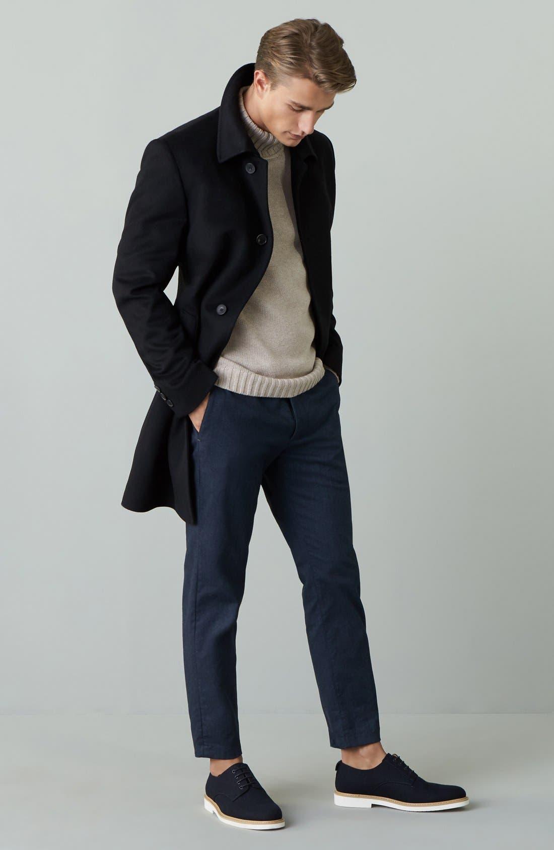 Alternate Image 6  - Nordstrom Men's Shop Chunky Turtleneck Sweater (Regular & Tall)