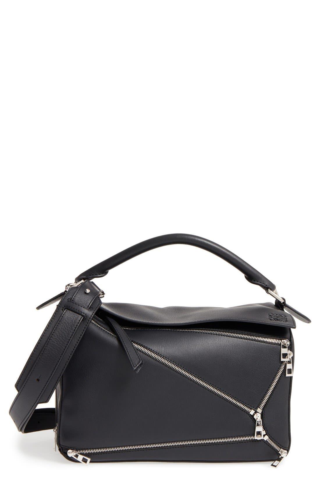 LOEWE 'Puzzle Zips' Calfskin Leather Bag