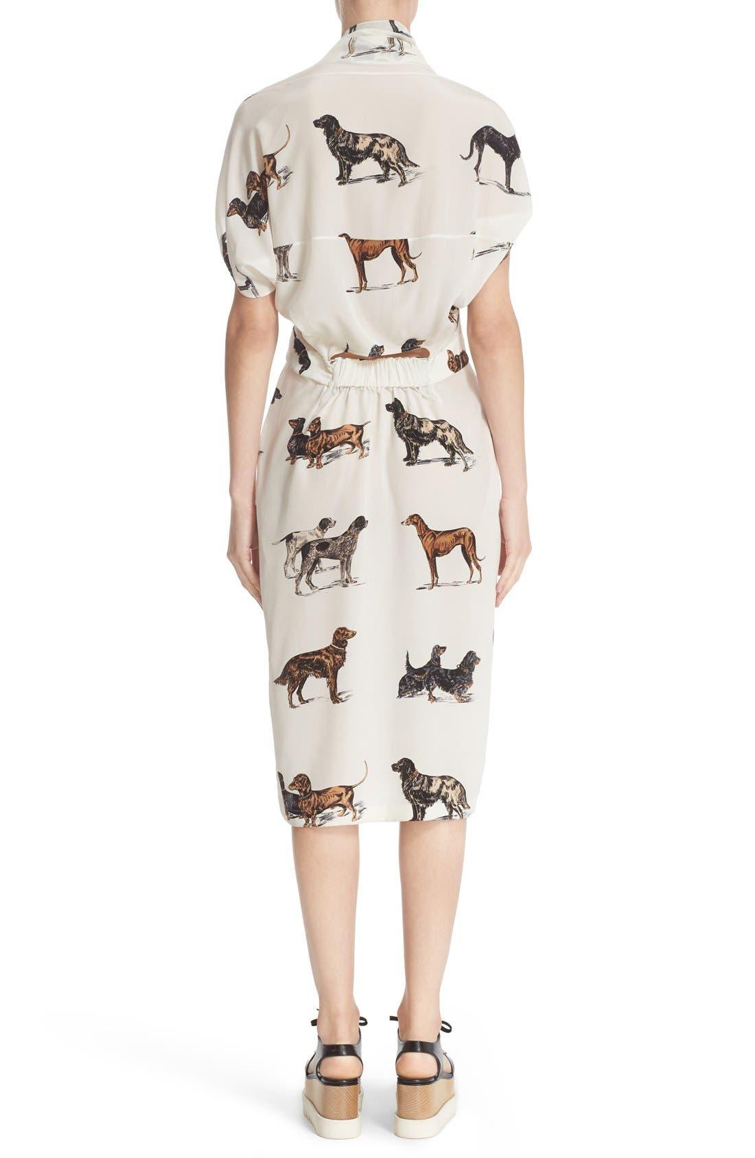 Alternate Image 2  - Stella McCartney Dog Print Silk Dress
