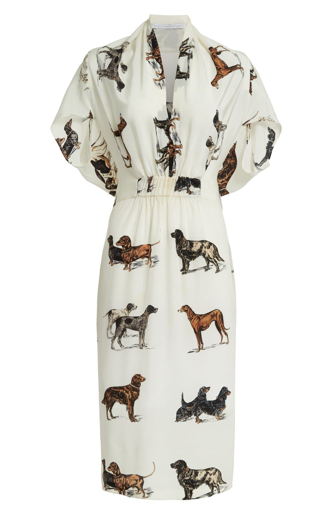 Alternate Image 4  - Stella McCartney Dog Print Silk Dress