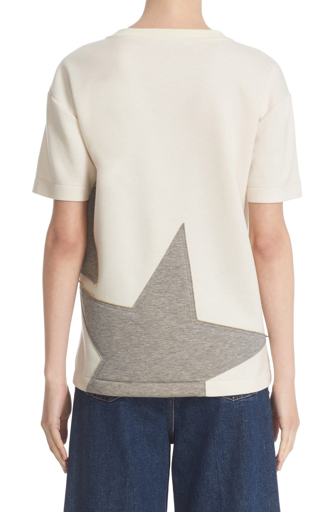 Alternate Image 2  - Stella McCartney Star Appliqué Jersey Tee
