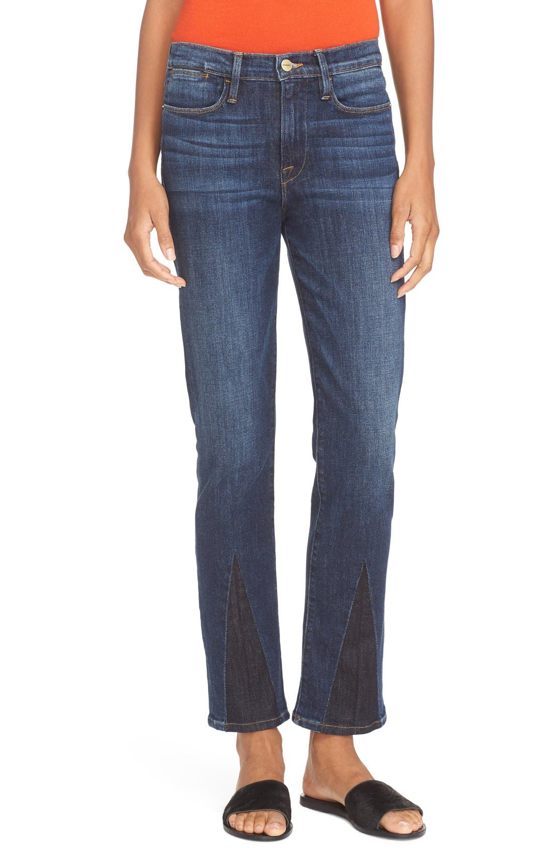 FRAME High Waist Straight Jeans