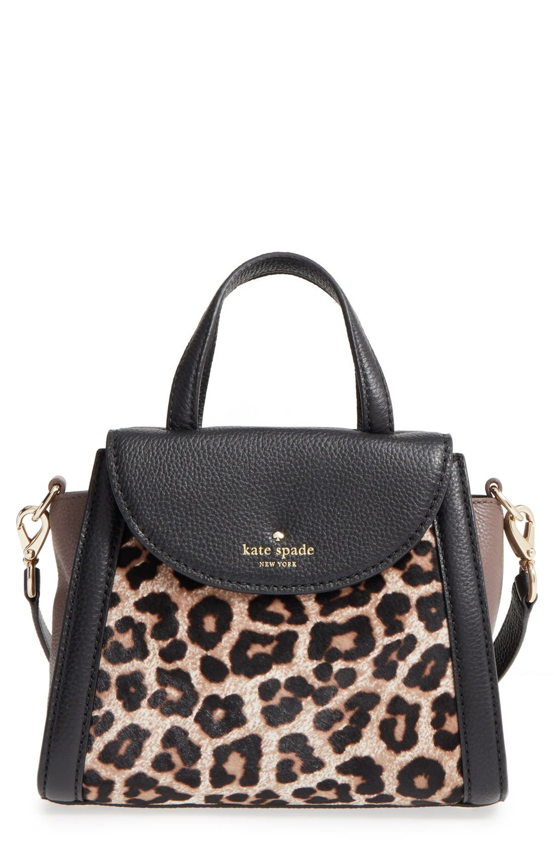 Alternate Image 1 Selected - kate spade new york 'cobble hill - small adrien' genuine calf hair satchel