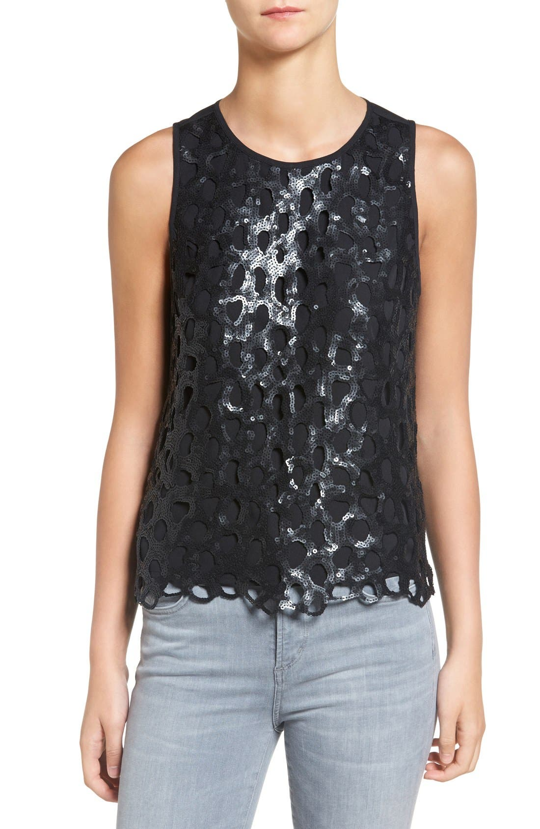 Alternate Image 1 Selected - Trouvé Sequin Overlay Tank