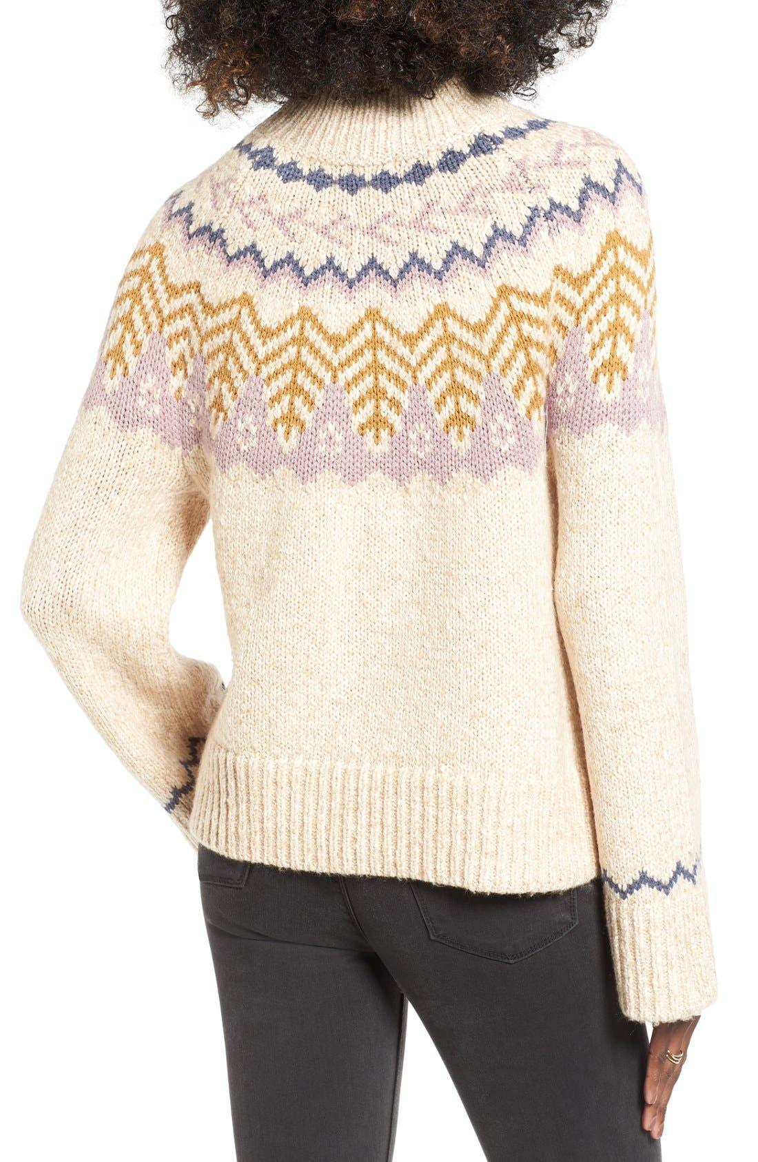 Alternate Image 2  - BP. Fair Isle Knit Pullover