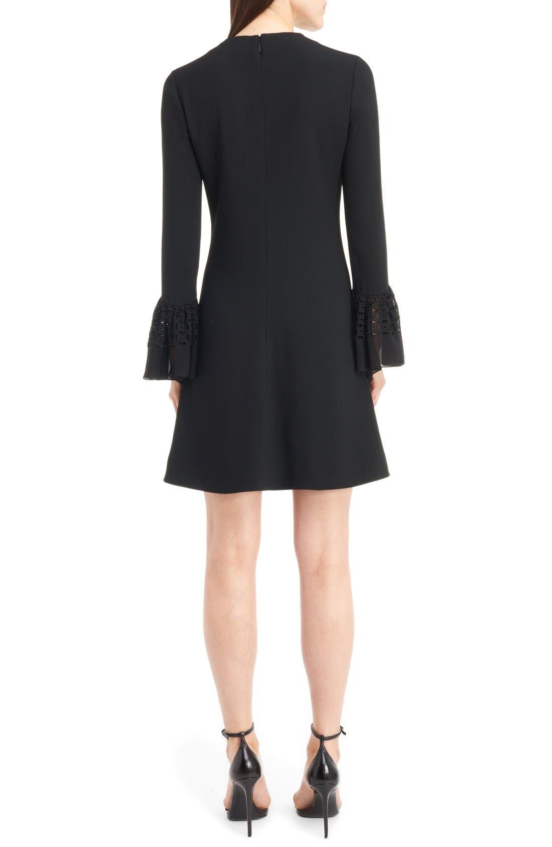Alternate Image 2  - Saint Laurent Lace Flutter Sleeve Babydoll Dress