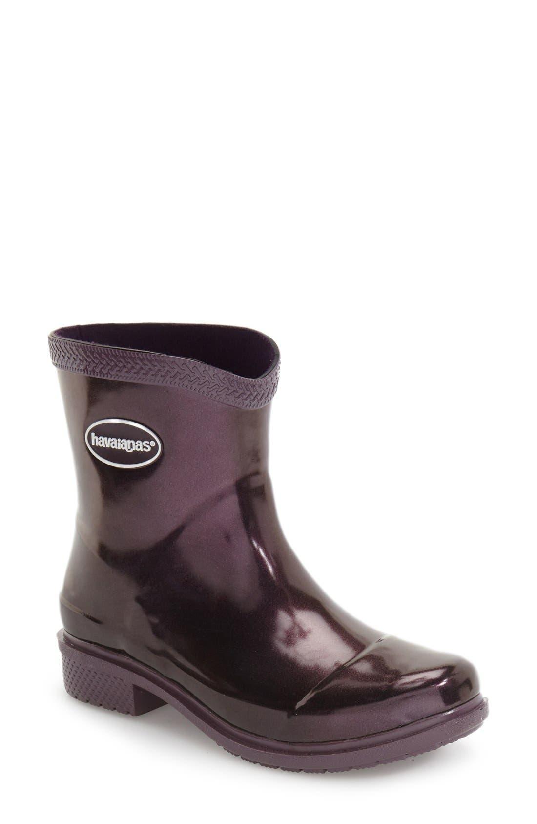 Alternate Image 1 Selected - Havaianas 'Galochas Low Metallic' Waterproof Rain Boot (Women)
