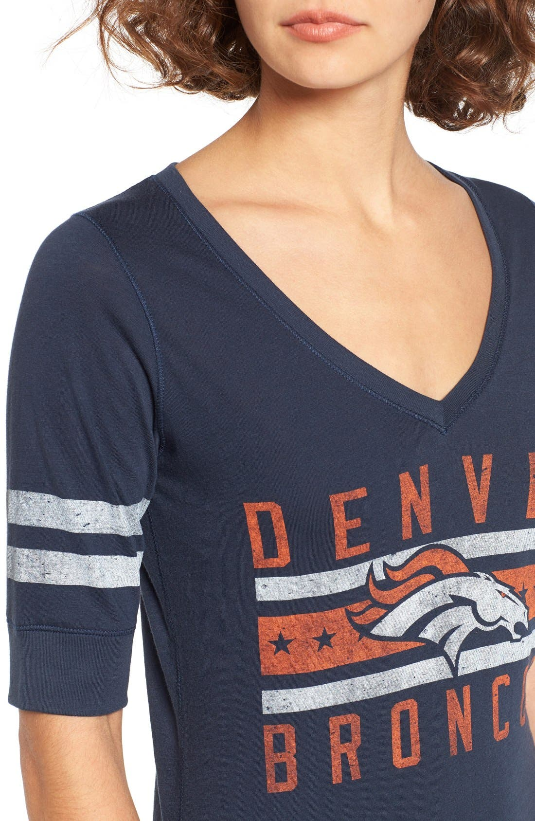 Alternate Image 4  - 47 Brand 'Denver Broncos - Flanker Backer' Graphic Tee