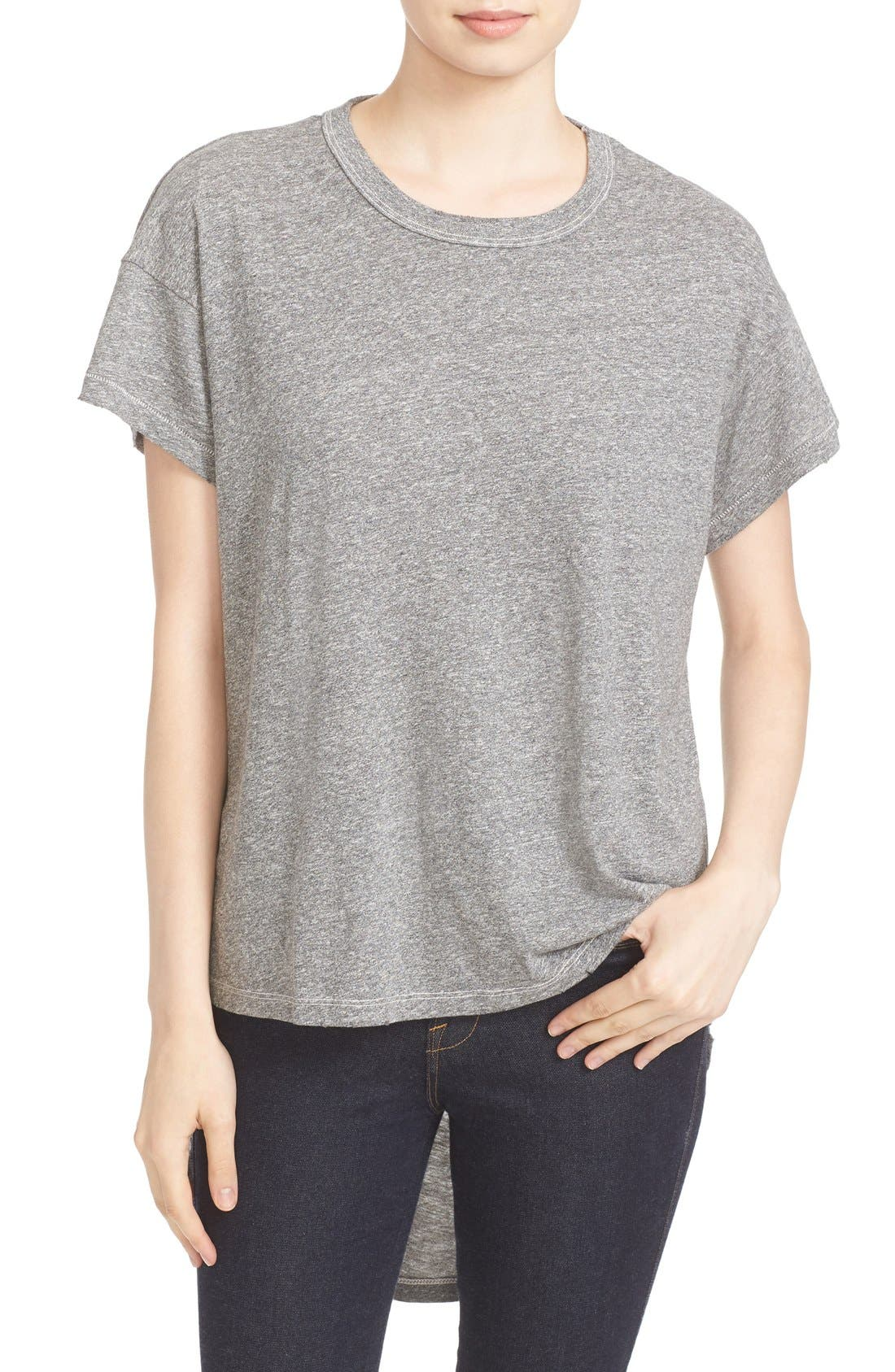 THE GREAT. 'The Shirttail' High/Low Tee